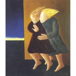 Two Women Fighting Against The Wind, 1994
